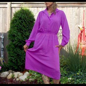 Vintage purple secretary dress